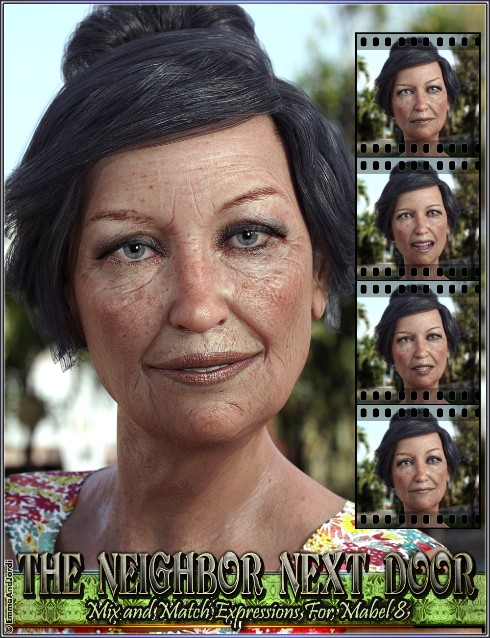 The Neighbor Next Door Mix And Match Expressions For Mabel 8 And Genesis 8 Female(s) by: EmmaAndJordi, 3D Models by Daz 3D