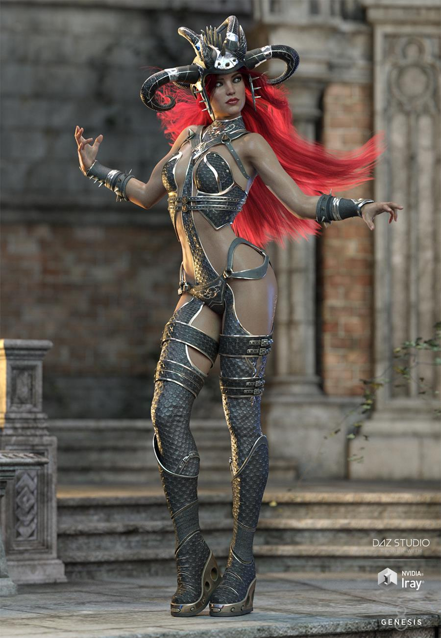Zealoth Outfit Texture Add-On by: HM, 3D Models by Daz 3D