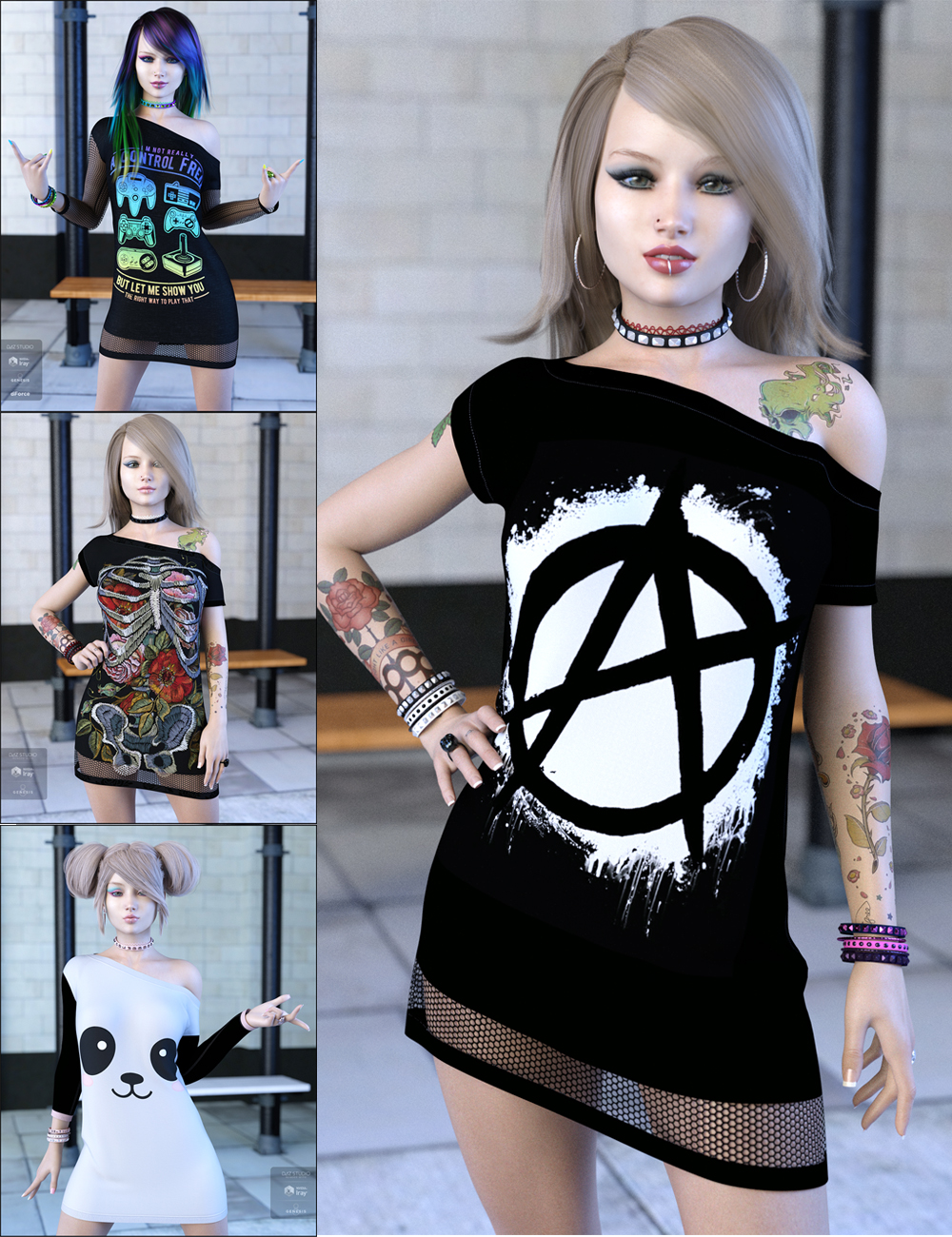 Attitude Bundle by: JessaiiDemonicaEvilius, 3D Models by Daz 3D