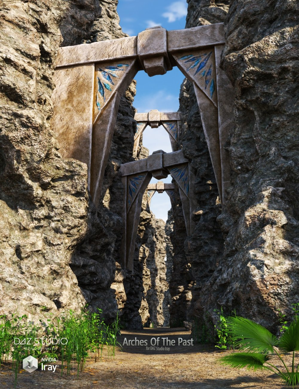 Arches Of The Past by: Andrey Pestryakov, 3D Models by Daz 3D