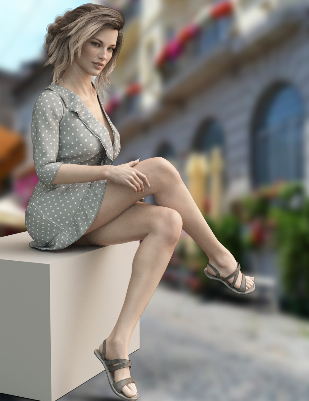 dForce X-Fashion Boho Dress Outfit for Genesis 8 Female(s) by: xtrart-3d, 3D Models by Daz 3D