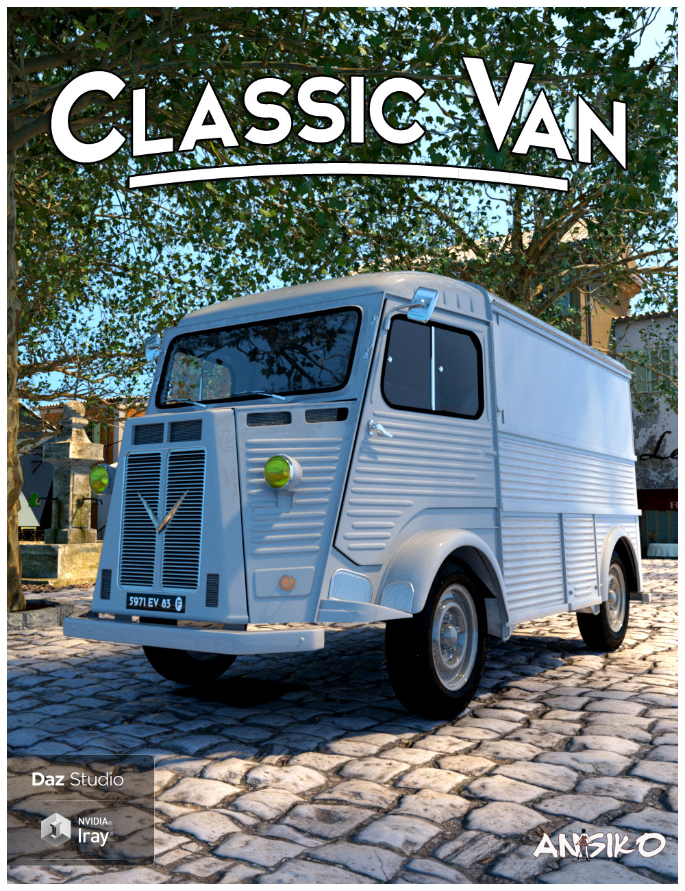 Classic Van and Props by: Ansiko, 3D Models by Daz 3D