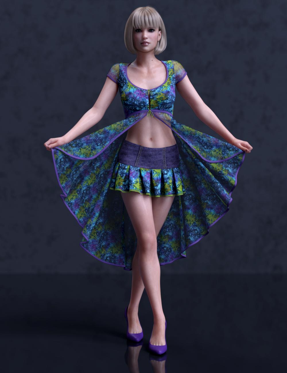 dForce Liberty Grace Outfit Panache Textures by: Leviathan, 3D Models by Daz 3D