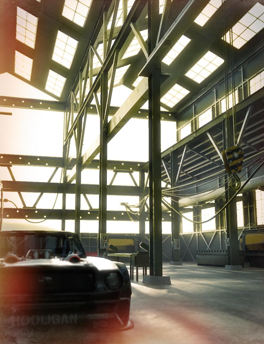 Industrial Garage by: DarkEdgeDesign, 3D Models by Daz 3D