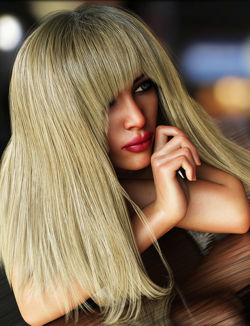 Bang Bob Hair with dForce for Genesis 8 Female(s) by: Linday, 3D Models by Daz 3D
