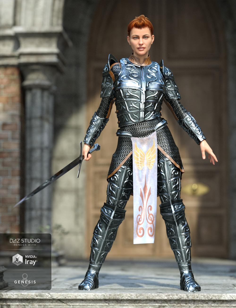 dForce High Paladin for Genesis 8 Female(s) by: GolaMValandar, 3D Models by Daz 3D