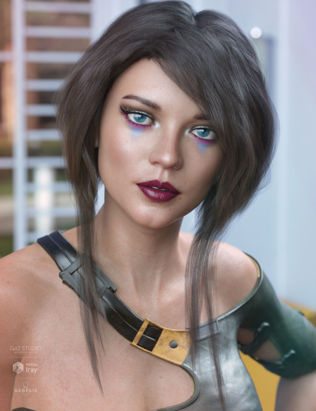 Ellisea Hair for Genesis 3 & 8 Female(s) by: AprilYSH, 3D Models by Daz 3D