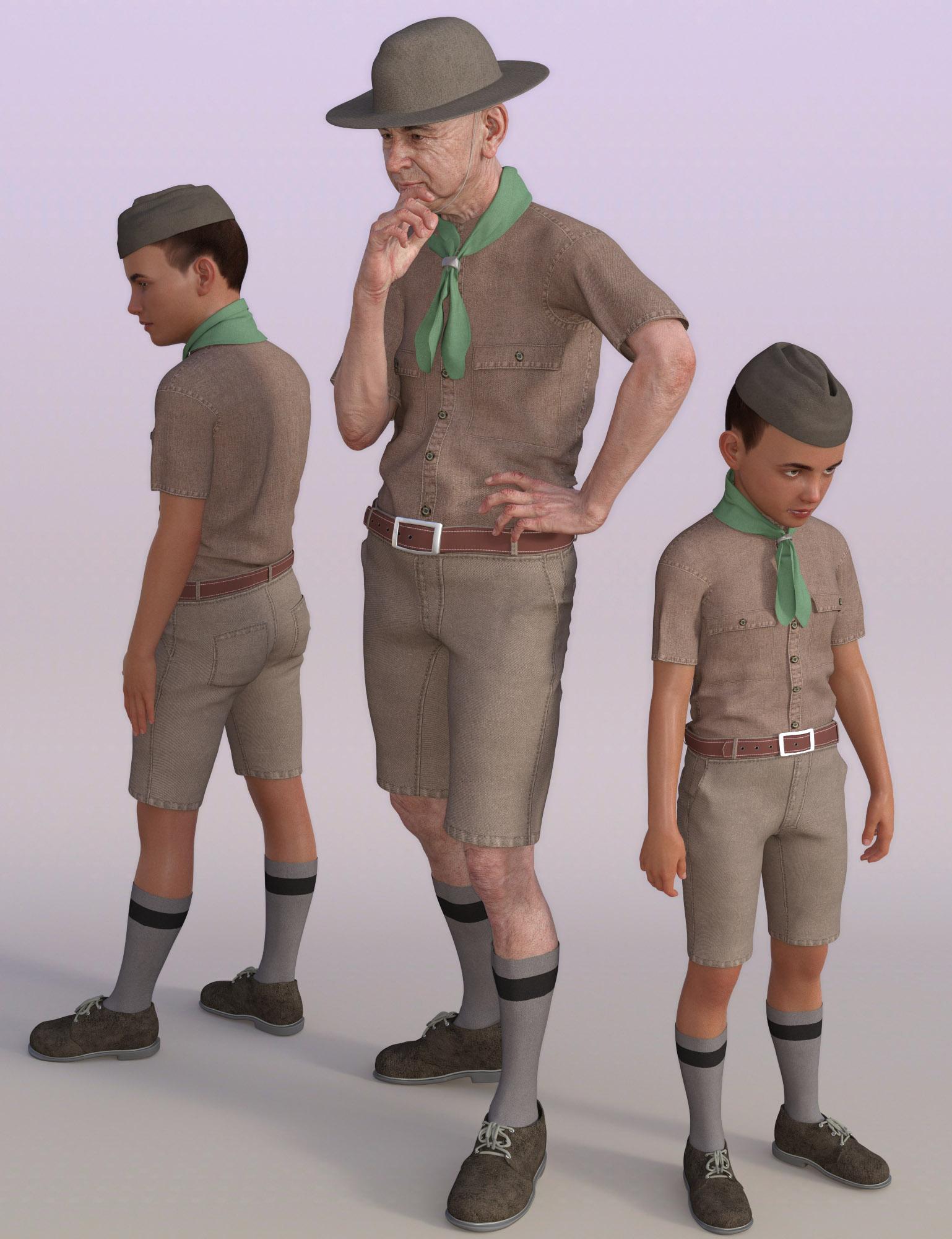 Classic Boy Scout for Genesis 8 Male(s) by: Oskarsson, 3D Models by Daz 3D
