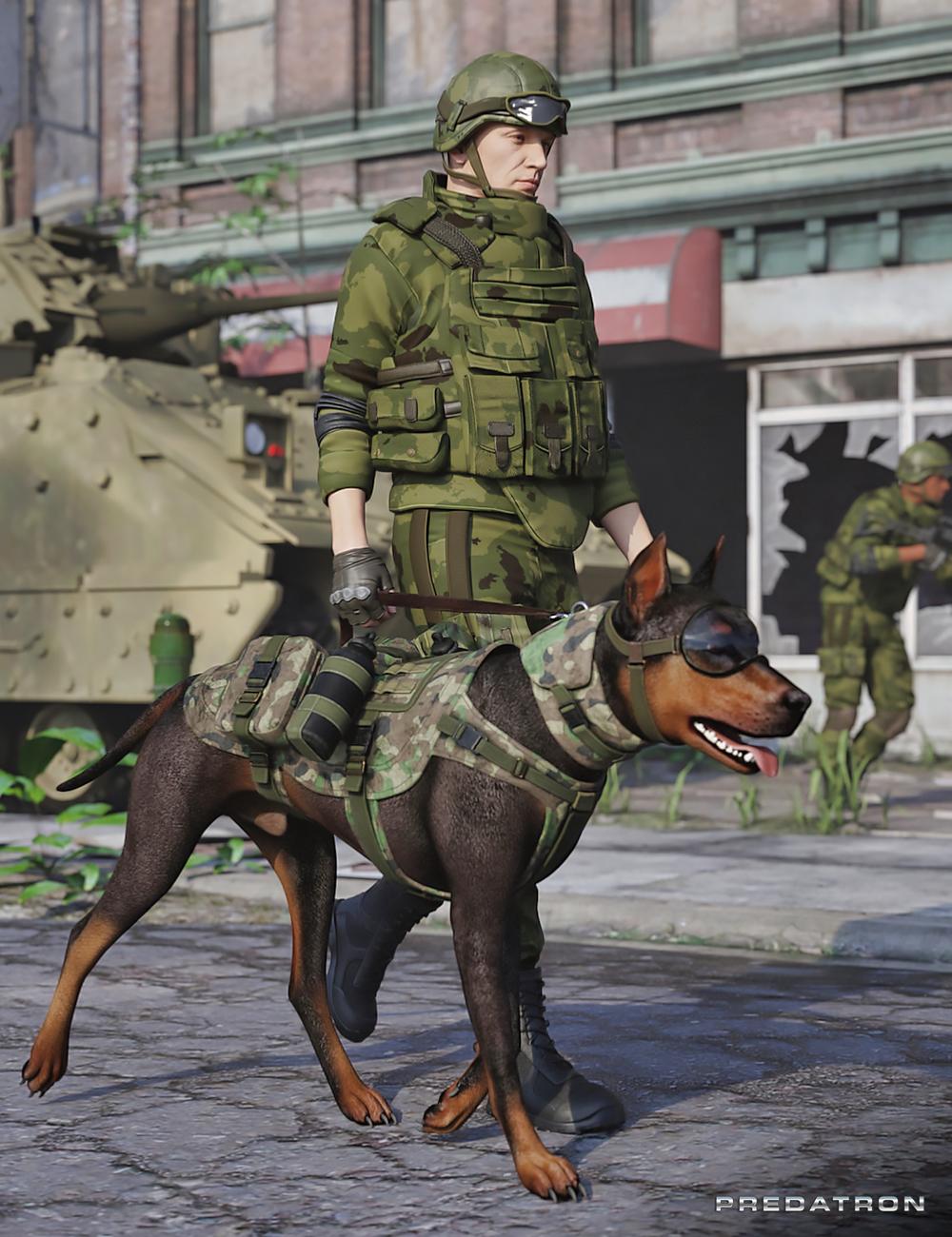 Utility Dog Vests for Daz Dog 8 by: Predatron, 3D Models by Daz 3D