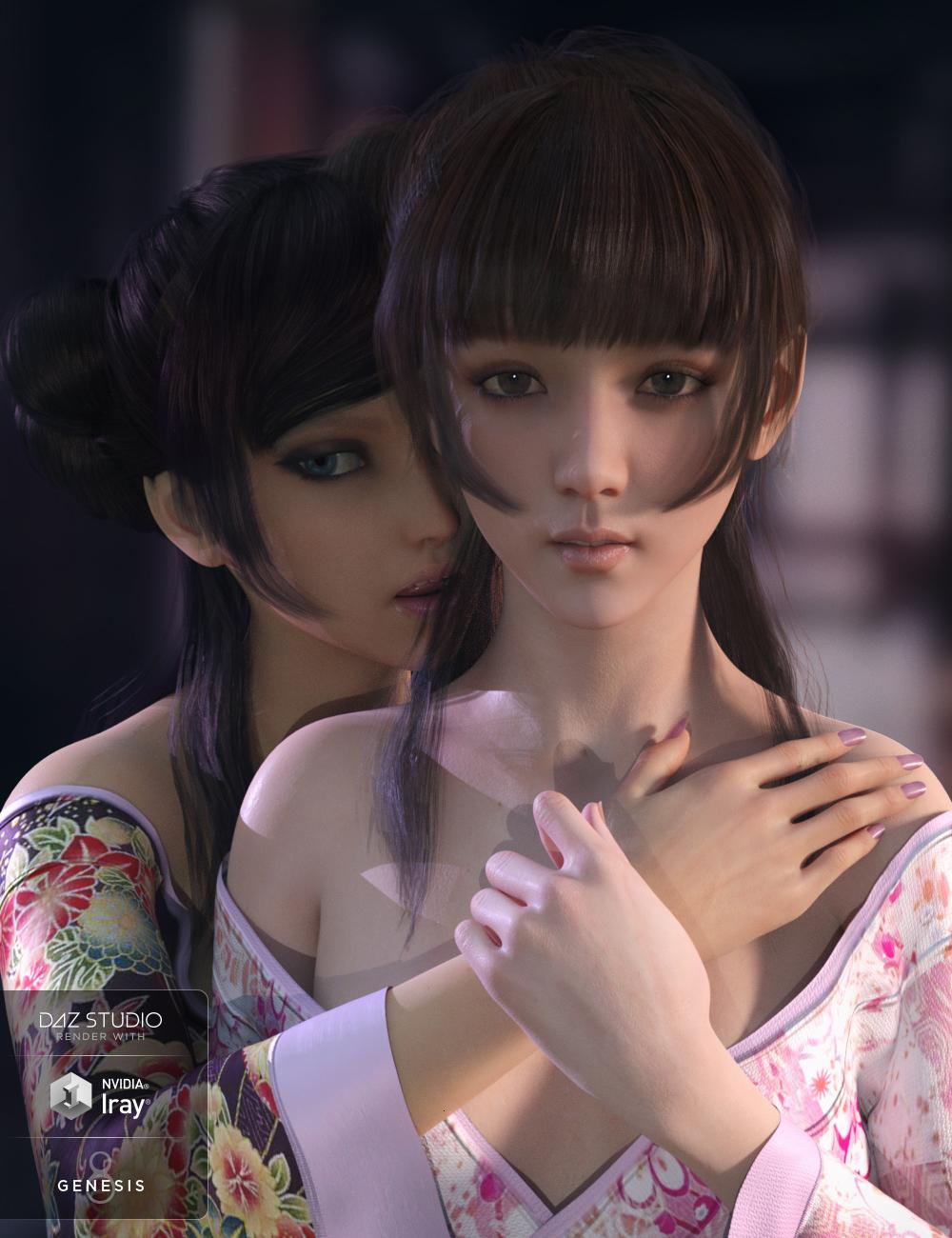 Nyo Hair for Genesis 8 Female(s) by: Crocodile Liu, 3D Models by Daz 3D