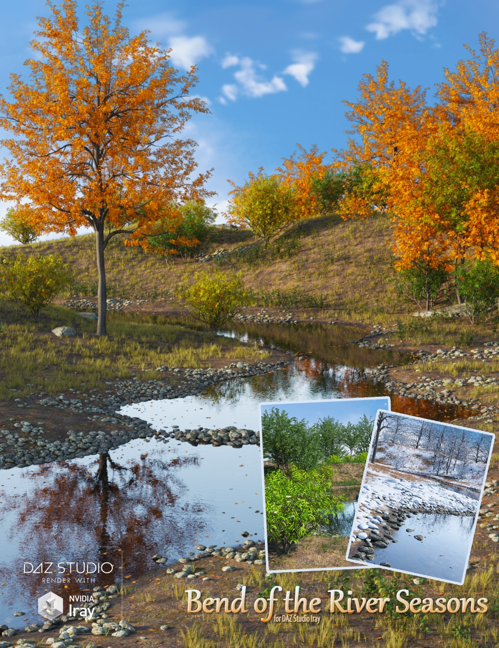 Bend of the River Seasons by: Peanterra, 3D Models by Daz 3D
