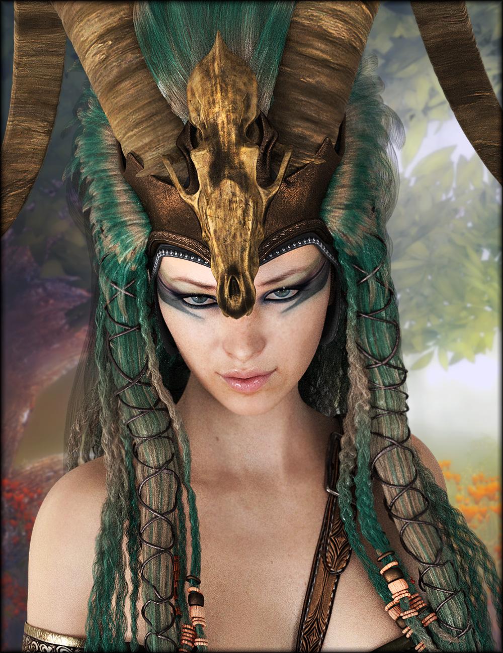 Axarra Headdress Textures by: Shox-Design, 3D Models by Daz 3D