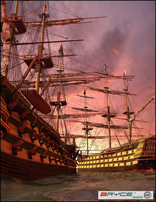 HMS Victory by: Dreamscape-Creations, 3D Models by Daz 3D