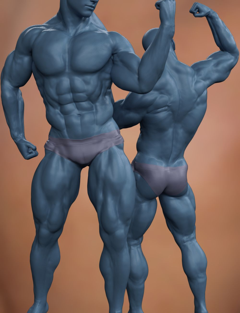 Musculature HD Morphs for Genesis 8 Male by: xenic101, 3D Models by Daz 3D