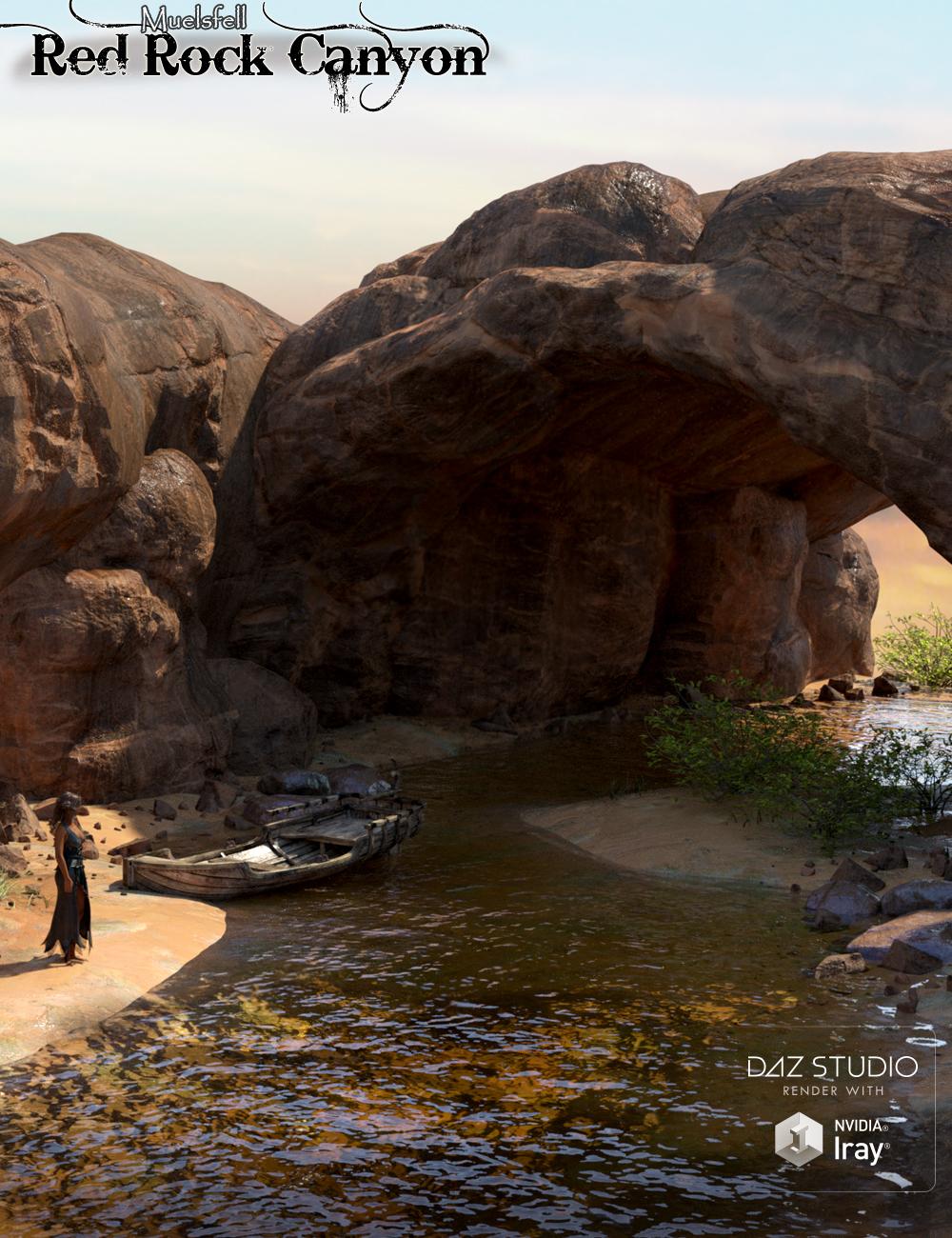 Muelsfell Modular Red Rock Canyon by: E-Arkham, 3D Models by Daz 3D