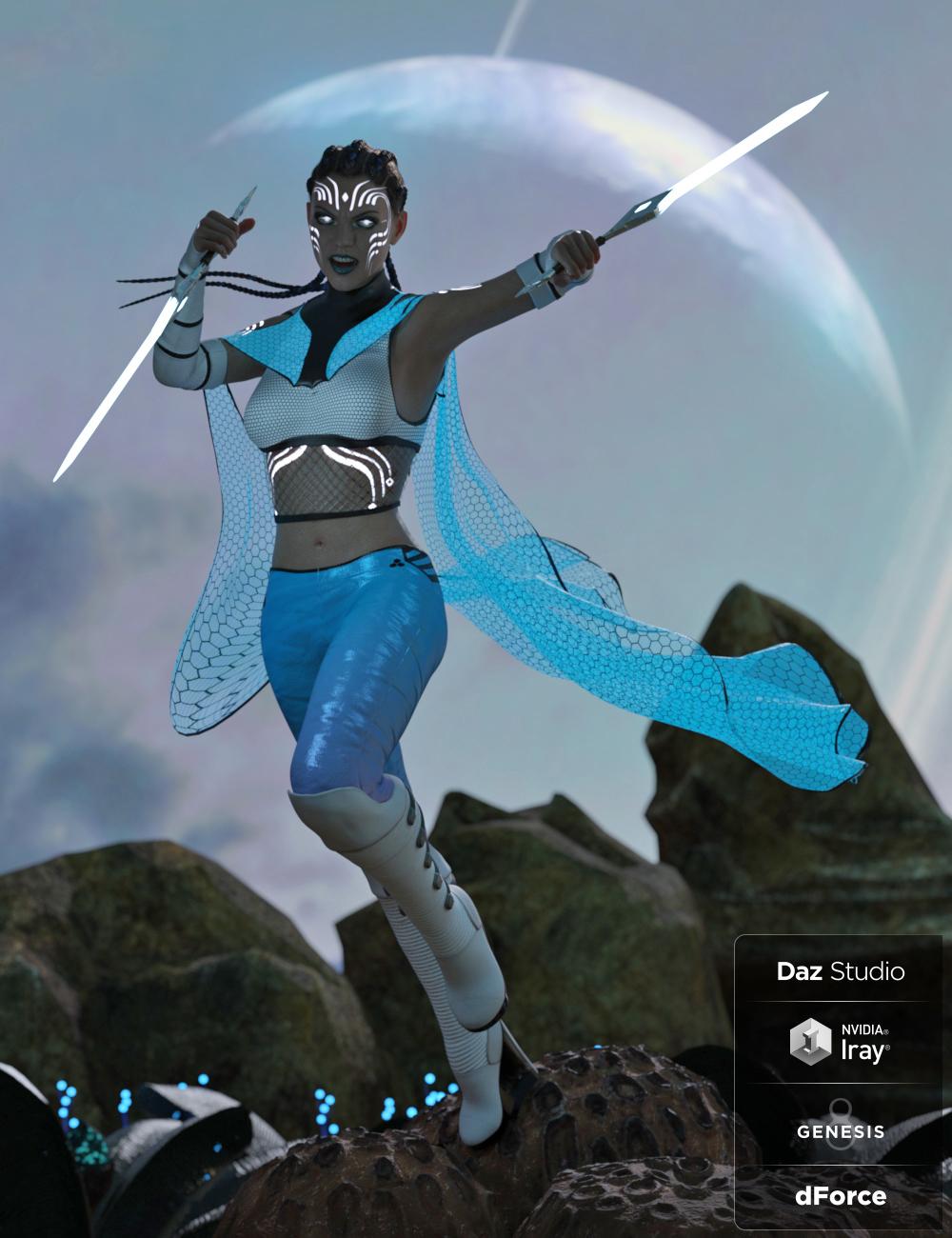 dForce Stargazer Outfit for Genesis 8 Female(s) by: Barbara BrundonUmblefugly, 3D Models by Daz 3D