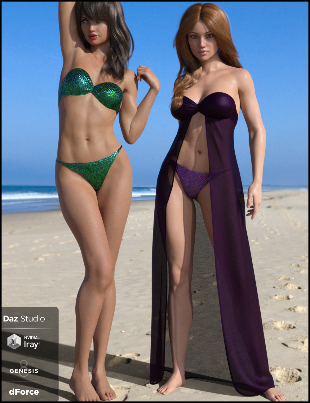dForce Dresskini for Genesis 8 Female(s) by: Nikisatez, 3D Models by Daz 3D