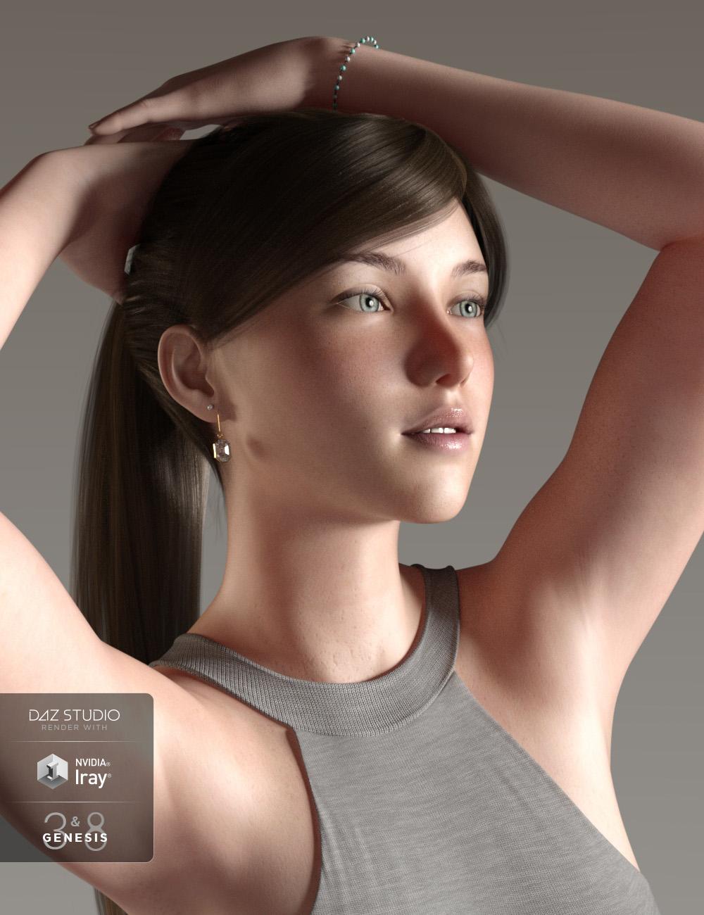 Emma for Genesis 3 & 8 Female by: Cherubit, 3D Models by Daz 3D