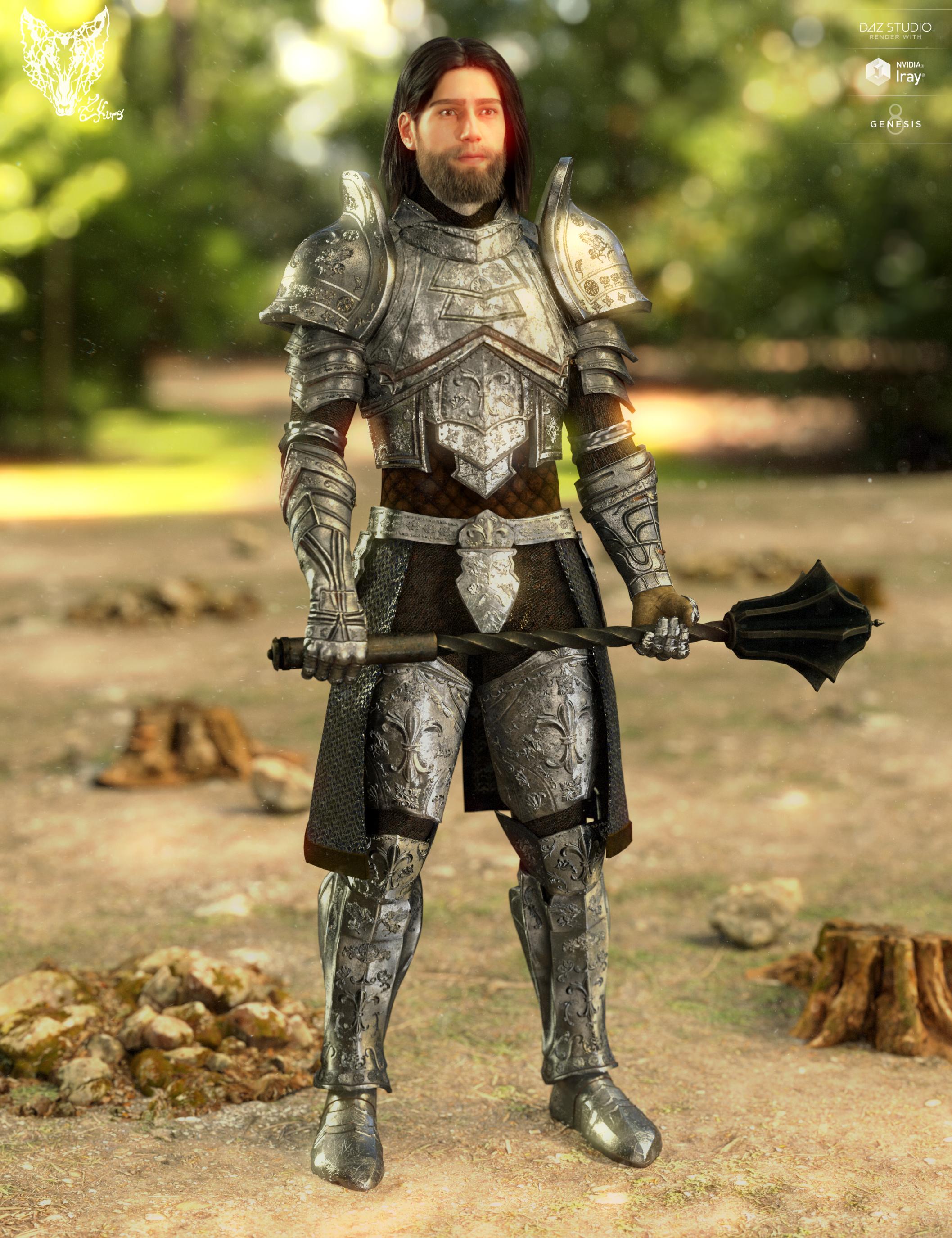 Orlean's Armor for Genesis 8 Male(s) by: ZKuro, 3D Models by Daz 3D