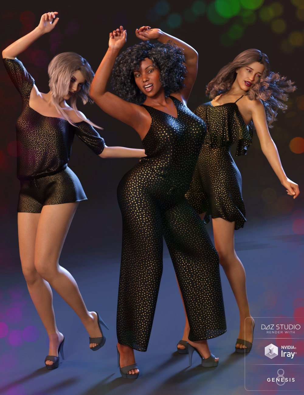 Dancing Queen Poses and Expressions for Genesis 8 Female and Latonya 8 by: Capsces Digital Ink, 3D Models by Daz 3D