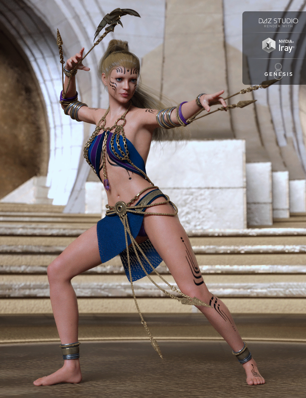 dForce Genus Unknown Outfit for Genesis 8 Female(s) by: Mada, 3D Models by Daz 3D