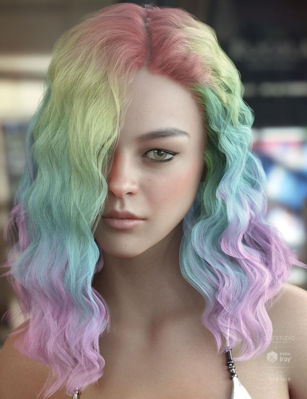 Vance Hair Bundle for Genesis 3 & 8 by: AprilYSH, 3D Models by Daz 3D