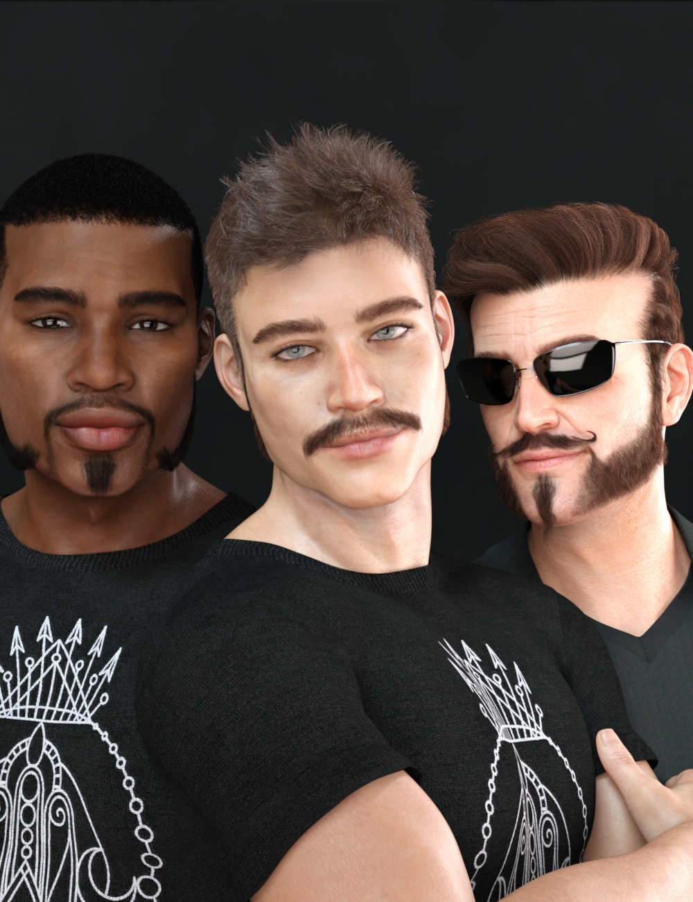 Variety Facial Hair for Genesis 8 Male(s) by: RedzStudio, 3D Models by Daz 3D