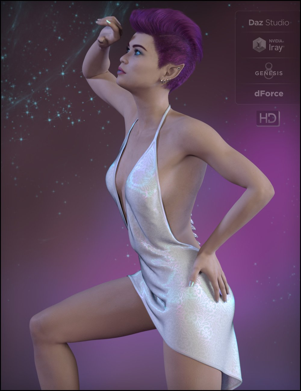 dForce Sexy Little Outfit for Genesis 8 Female(s) by: Fisty & Darc, 3D Models by Daz 3D
