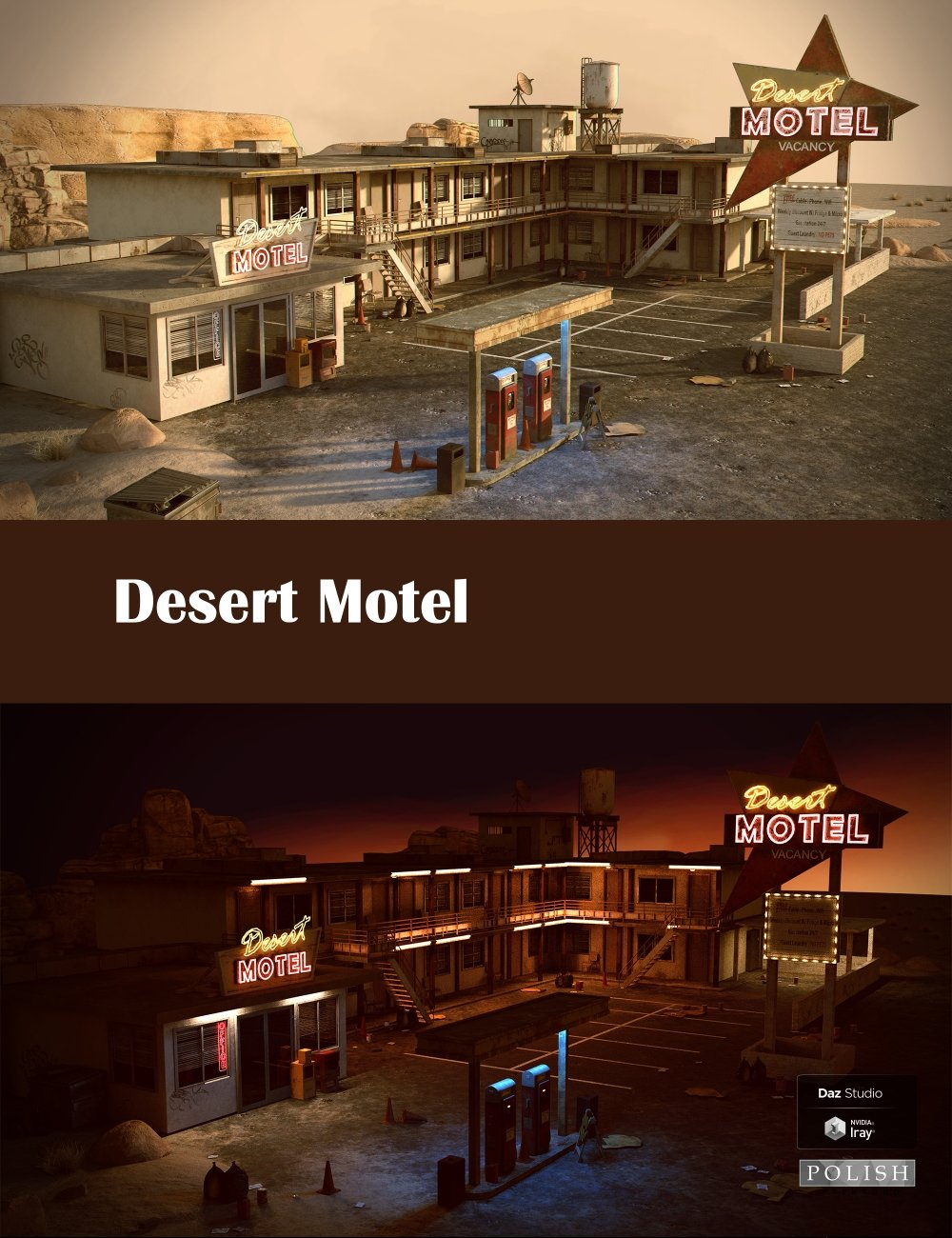 Desert Motel by: Polish, 3D Models by Daz 3D