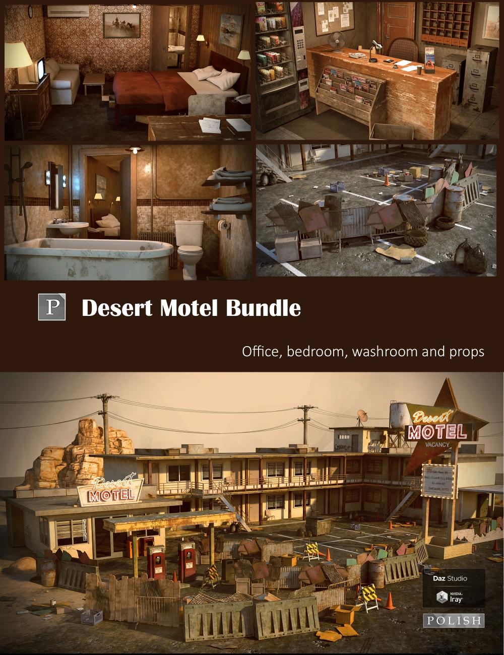 Desert Motel Bundle by: Polish, 3D Models by Daz 3D