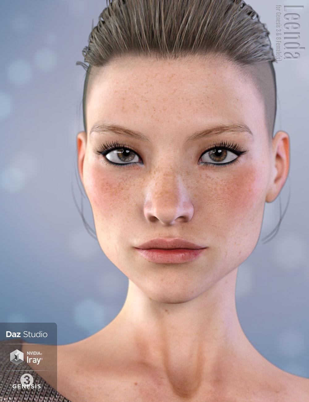 Leenda for Genesis 3 and 8 Female by: Eichhorn Art, 3D Models by Daz 3D