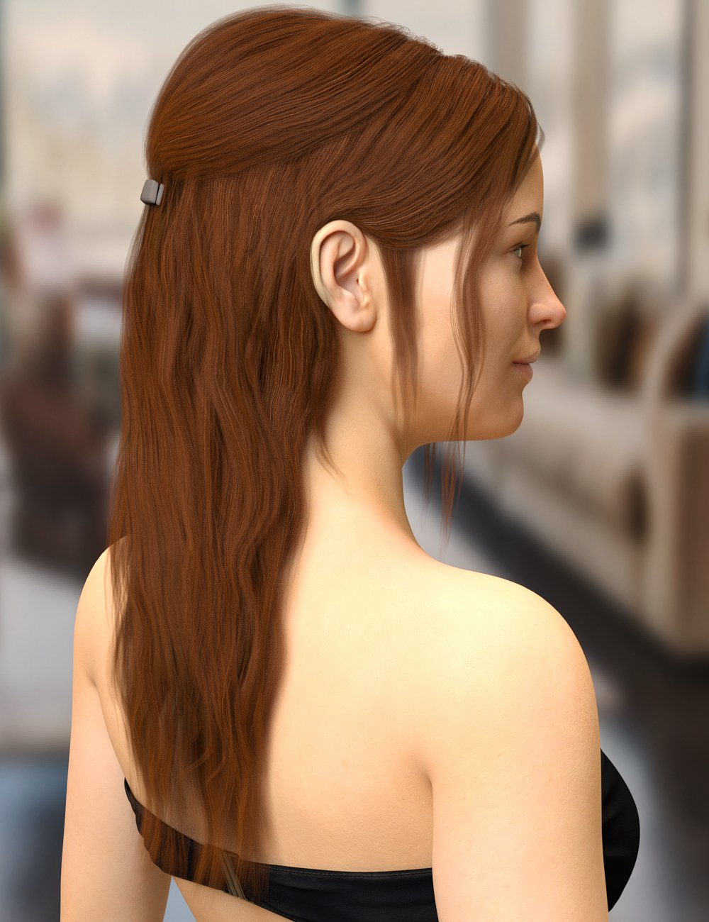 Agnes Hair for Genesis 8 Female(s) by: Toyen, 3D Models by Daz 3D