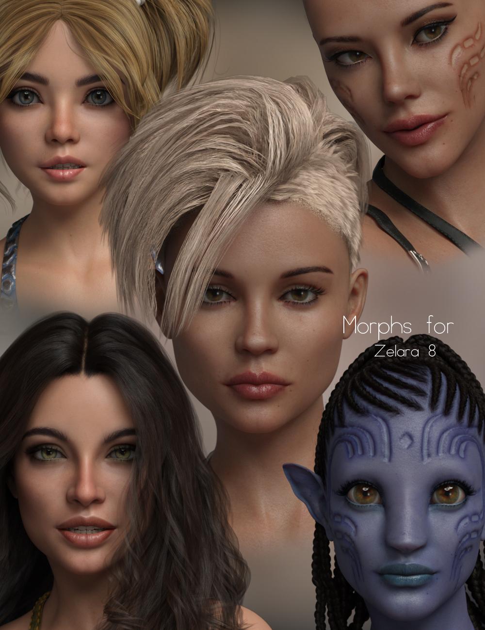 P3D Zelara 8 HD Enhanced Morphs Package by: P3Design, 3D Models by Daz 3D