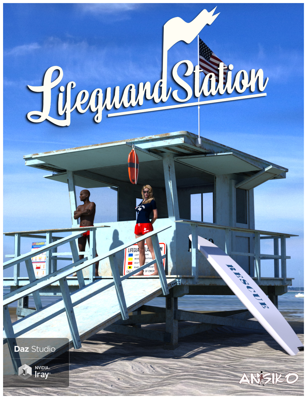Lifeguard Station by: Ansiko, 3D Models by Daz 3D