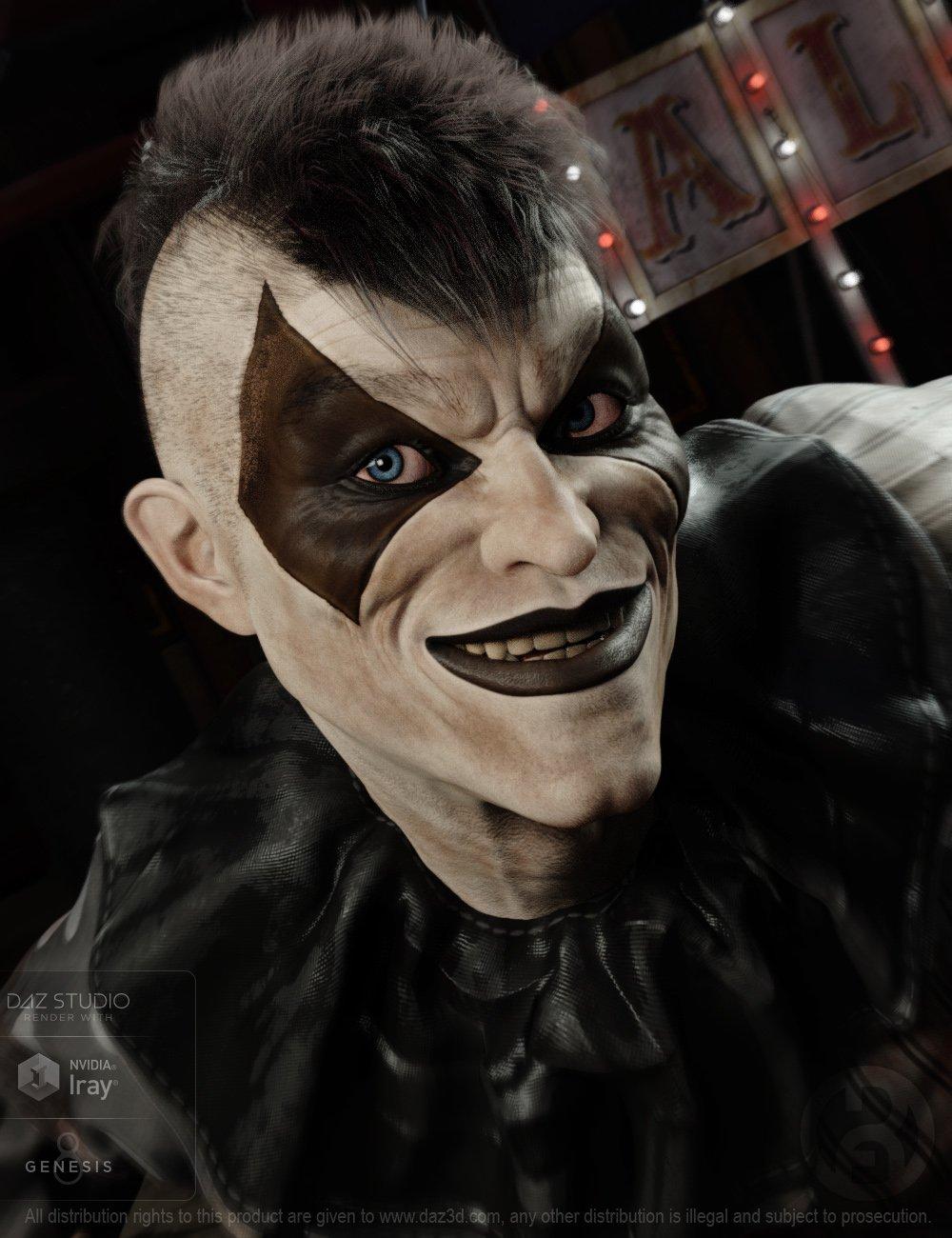 Broken Jester for Genesis 8 Male by: RawArt, 3D Models by Daz 3D
