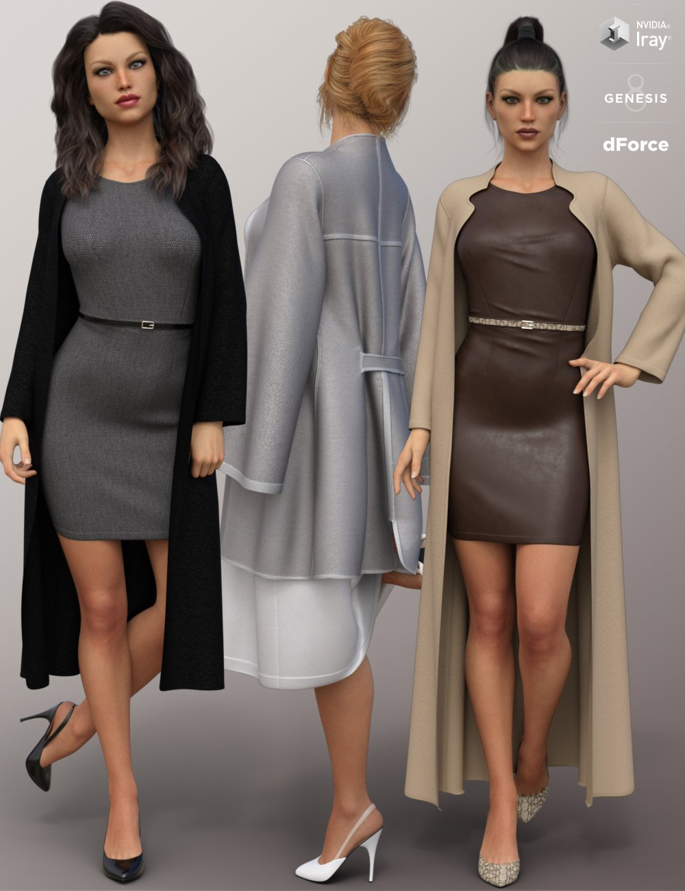 dForce Fashion Sophisticate Outfit for Genesis 8 Female(s) by: Nikisatez, 3D Models by Daz 3D