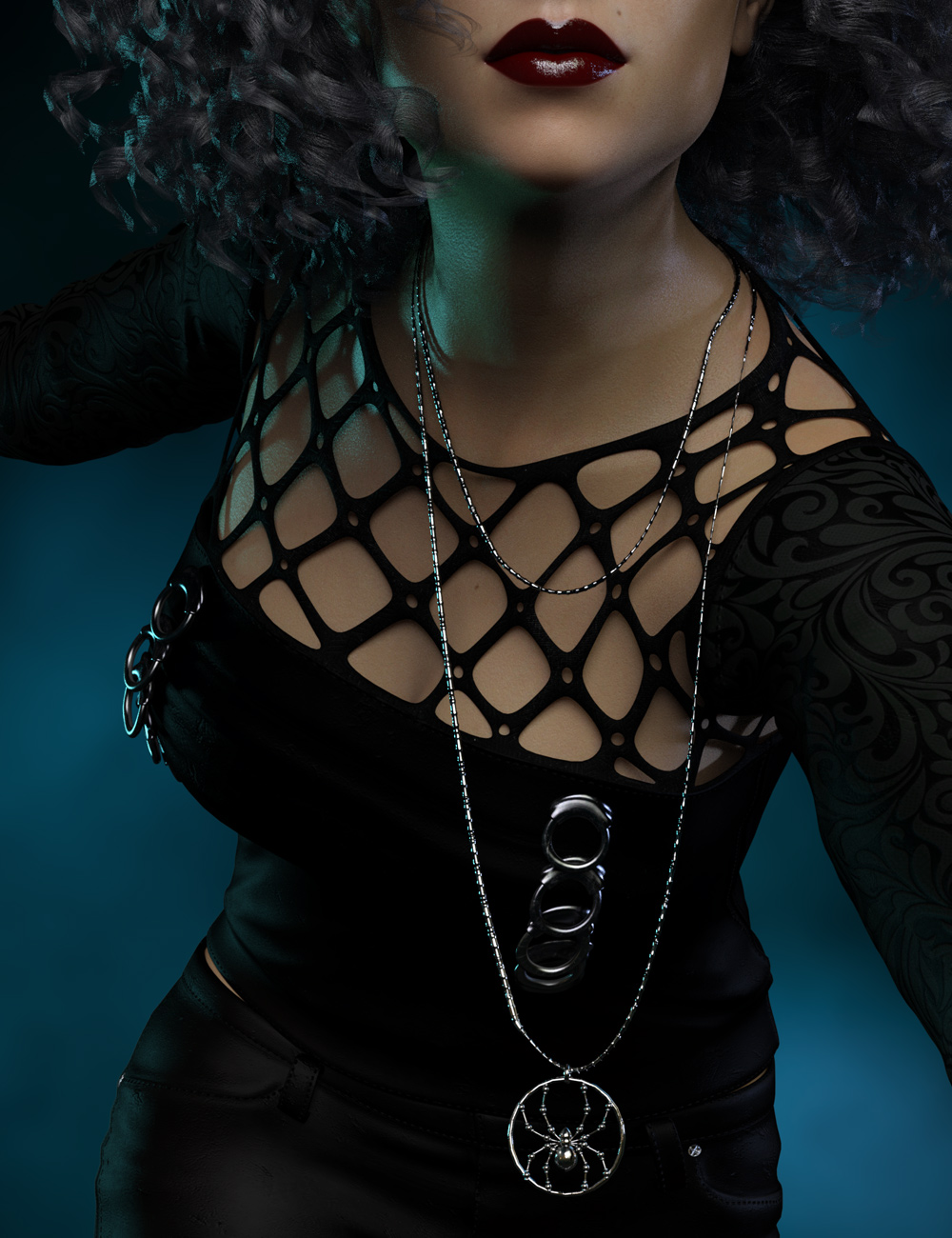 dForce Necklace Merchant Resource by: Mada, 3D Models by Daz 3D