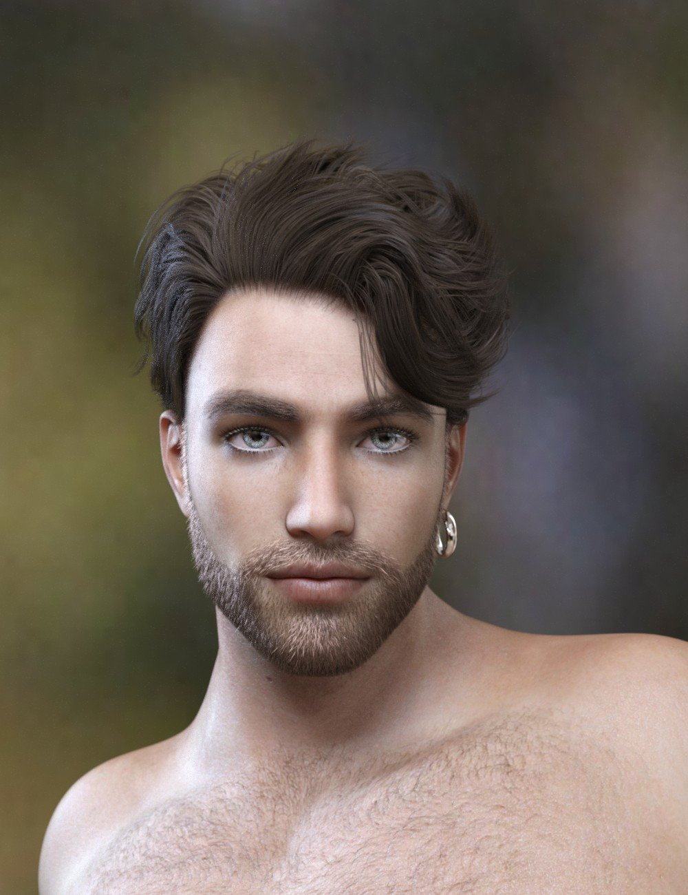 Magnus Hair for Genesis 3 and Genesis 8 Male(s) by: Neftis3D, 3D Models by Daz 3D