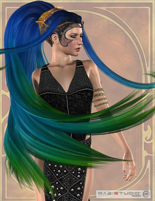 Kione Hair by: AprilYSH, 3D Models by Daz 3D