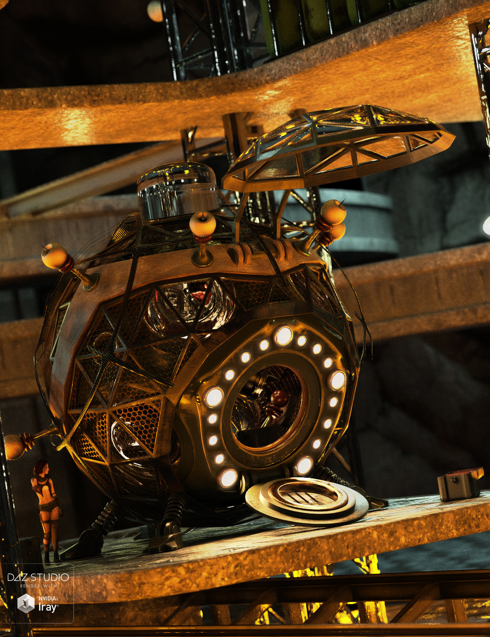 Steampunk Time Machine by: David BrinnenForbiddenWhispers, 3D Models by Daz 3D