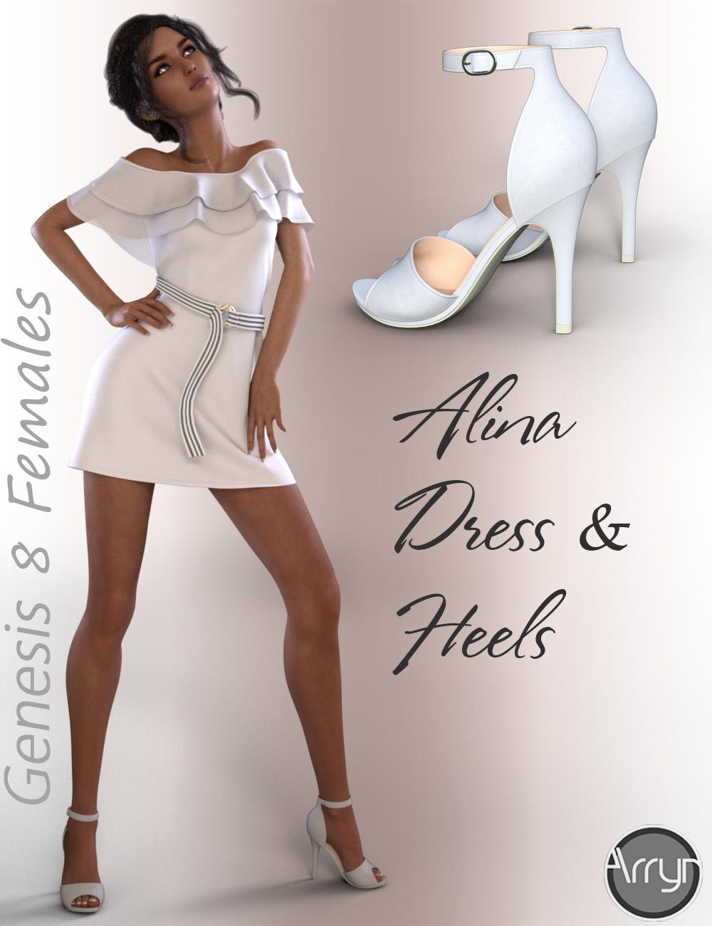 dForce Alina Outfit for Genesis 8 Female(s) by: OnnelArryn, 3D Models by Daz 3D