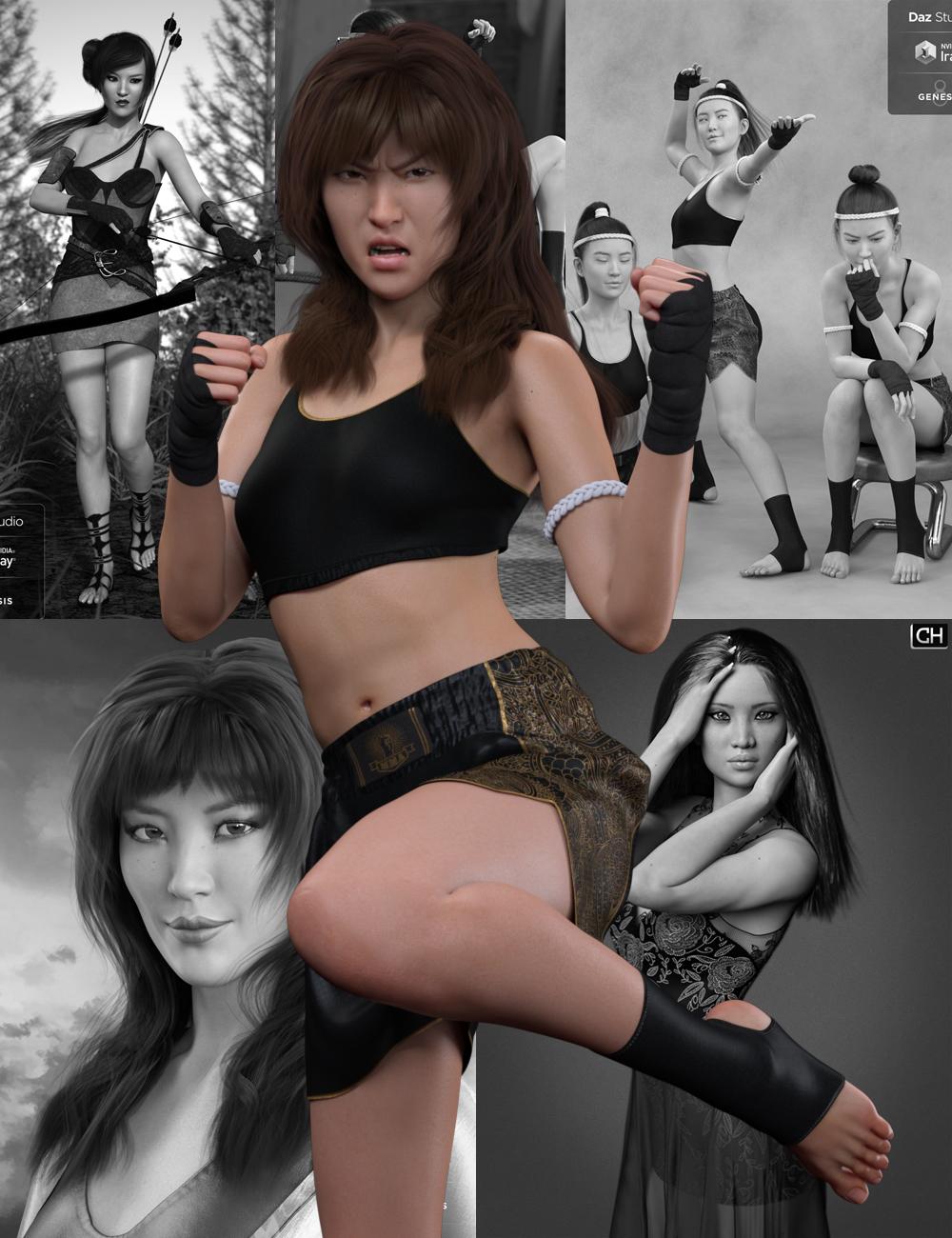 Mei Lin 8 Starter Bundle by: , 3D Models by Daz 3D