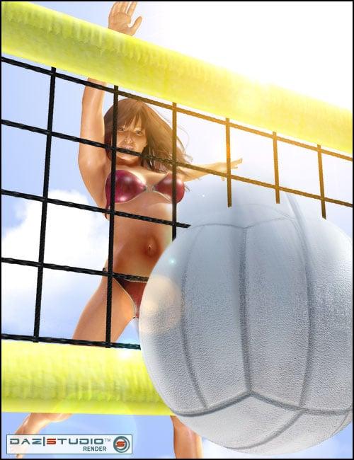 Beach Volleyball Set by: Rosetta, 3D Models by Daz 3D