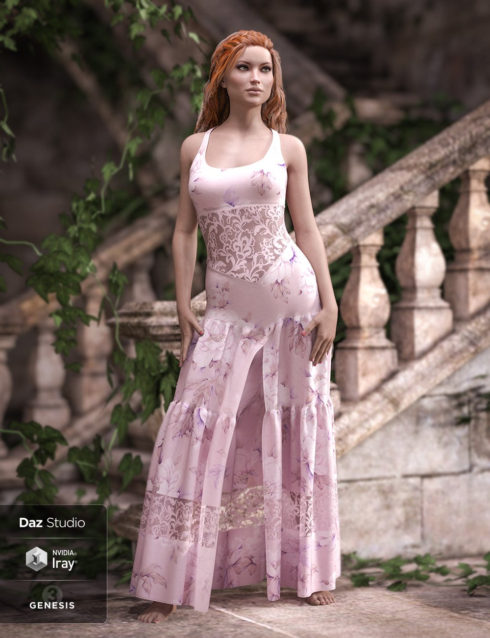 Darling Dress for Genesis 3 and 8 Female(s) by: Aave NainenPoisenedLilyRavnheart, 3D Models by Daz 3D