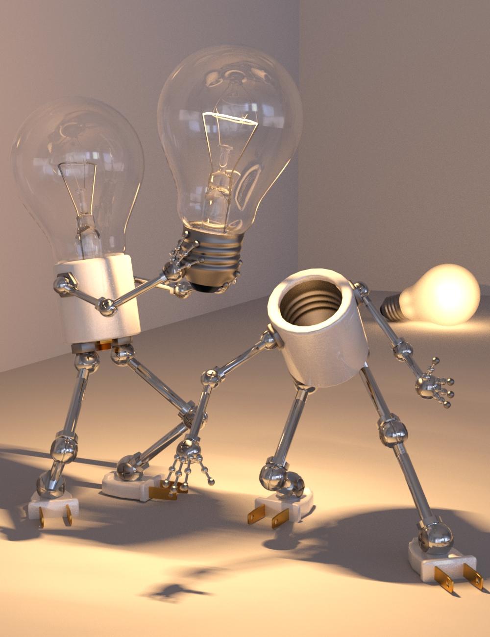 Light Bob by: DzFire, 3D Models by Daz 3D