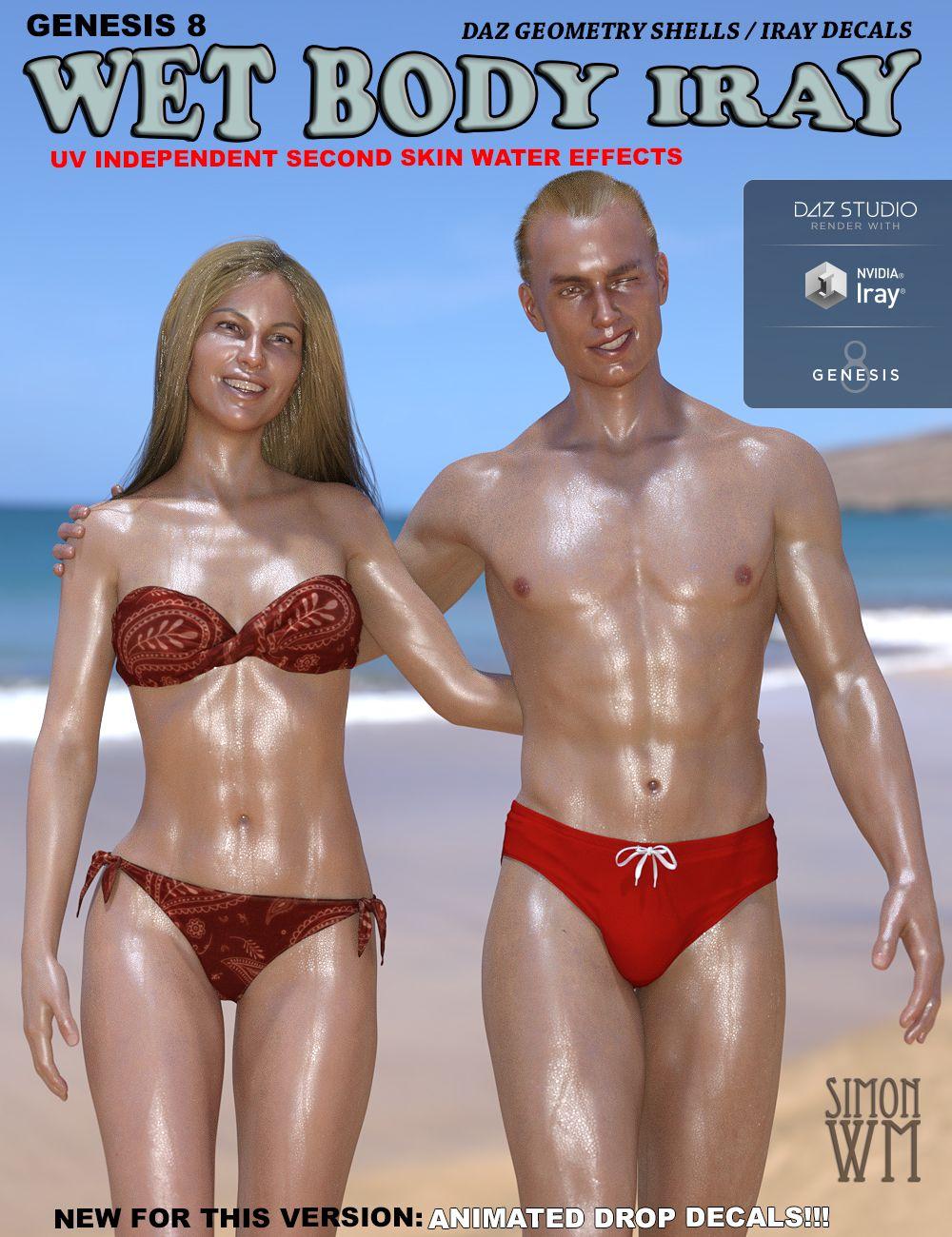 Genesis 8 Wet Body Iray by: SimonWM, 3D Models by Daz 3D