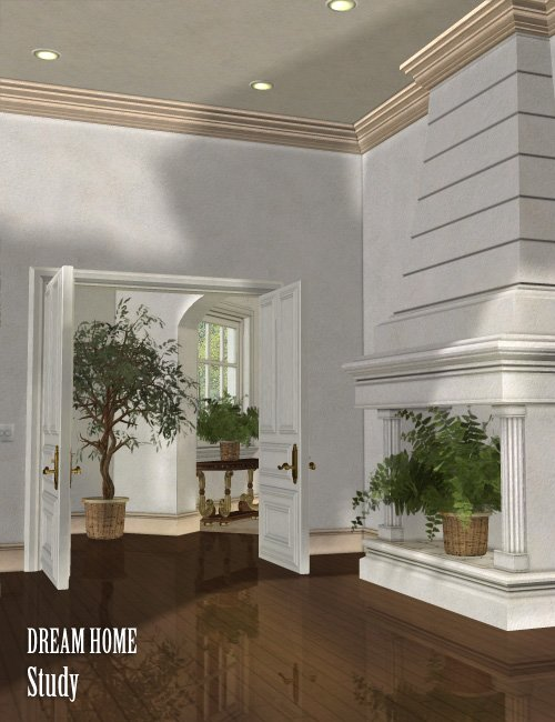 Dream Home: The Study by: , 3D Models by Daz 3D