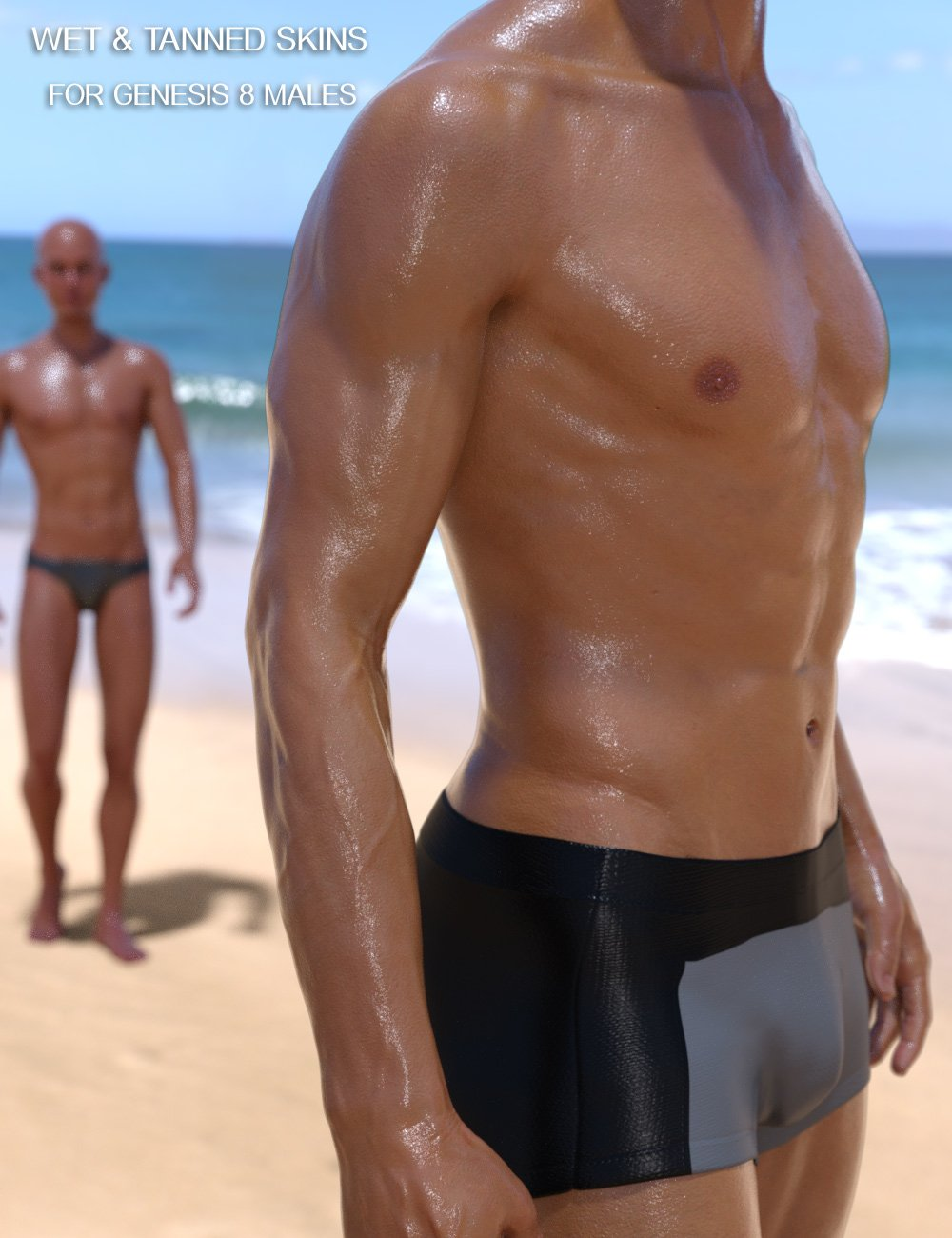 Wet And Tanned Skins For Genesis 8 Male(s) by: V3Digitimes, 3D Models by Daz 3D