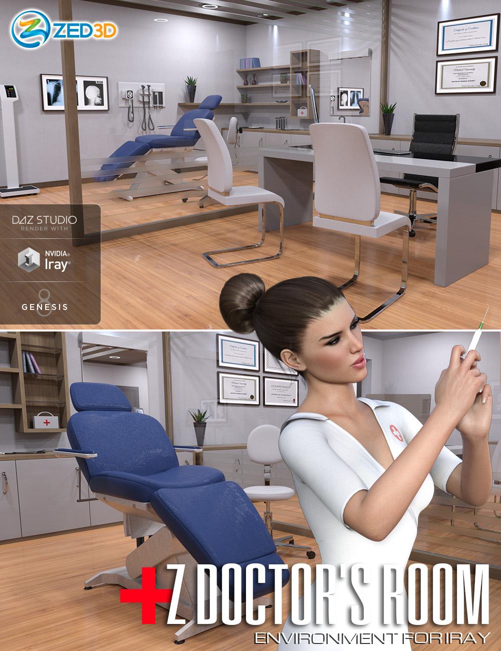 Z Doctor's Room Environment by: Zeddicuss, 3D Models by Daz 3D
