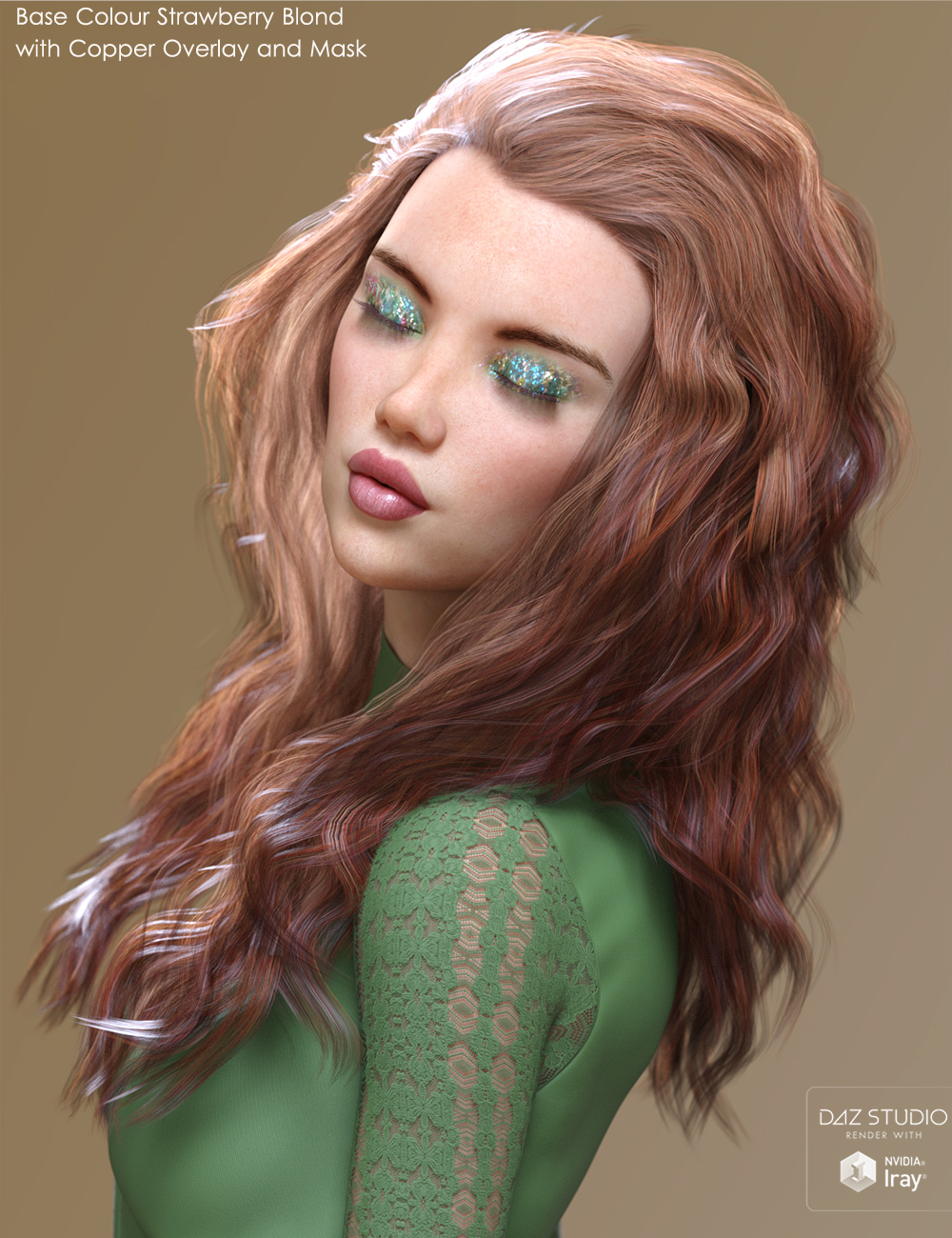 Alchemy for Backlight Hair Shaders for Iray by: ForbiddenWhispers, 3D Models by Daz 3D